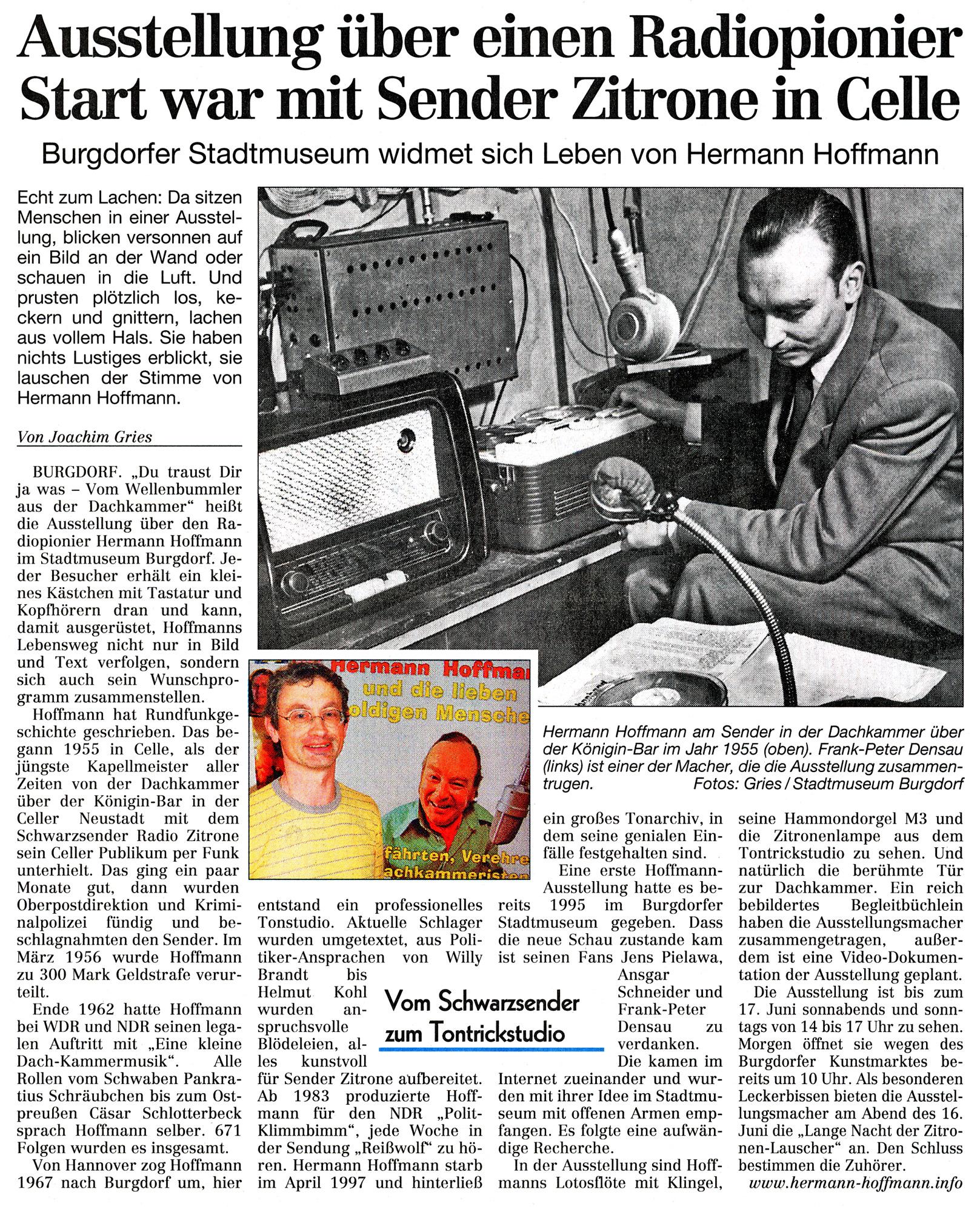 Cellesche Zeitung, 08.05.2007