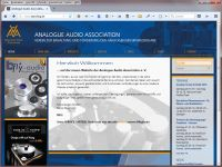 Homepage Analogue Audio Association e. V.
