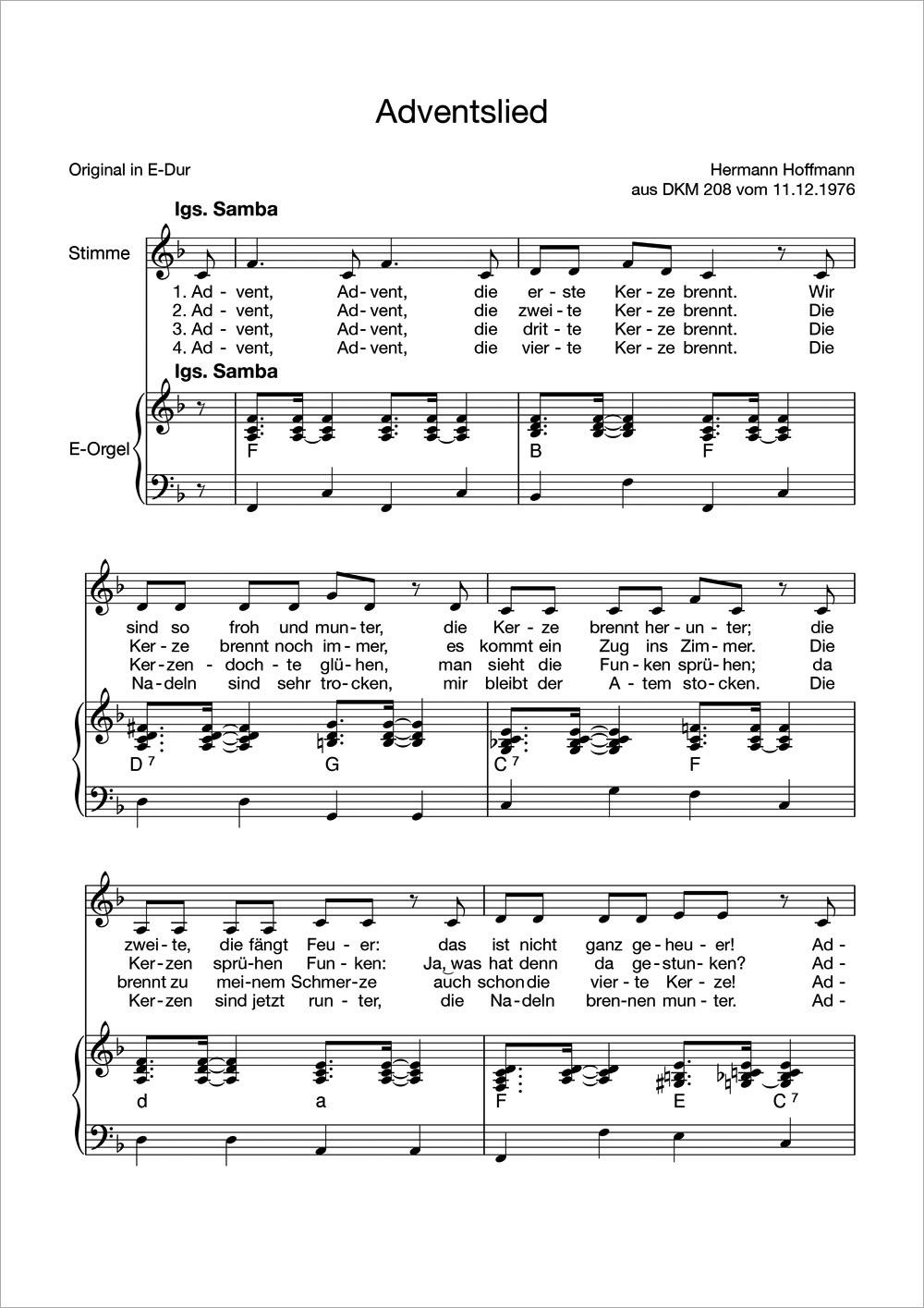 Im Advent Lied
